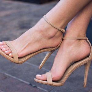 Nude Steve Madden one strap heels